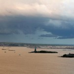 Another view from the rooftop - The Statue of Liberty!