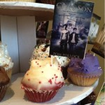 Cupcakes with Book Cover Flags