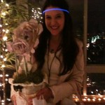Rebecca Serle, author of WHEN YOU WERE MINE after winning one of the bookish flower centerpieces