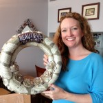 Amy Reale of Wicked Bookcraft created this gorgeous wreath from the BEAUTIFUL CREATURES novel. Kami Garcia was one of the Little Brown authors who attended the Rooftop Party.