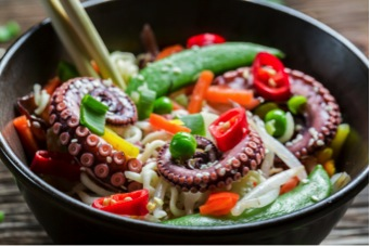 Of course, for those who like their octopus straight up, there's nothing like a tentacle or two in a bowl of ramen.