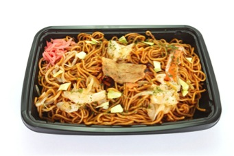 Sometimes, though, you just want your noodles sans sea creatures. Yakisoba, a popular takeaway item, is perfect. It's especially great for lunch at your desk, as it's good warm or cold.