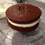 Whoopie Pie Cake in the making!