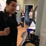 Heidi preparing the funnel cakes!