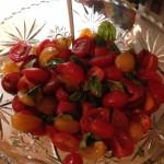 Tomato-basil salad. Yum.