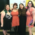 Bekka from Pretty Deadly Blog, Ashleigh from The YA Kitten, Author Dahlia Adler, & Lili
