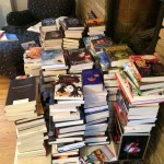 The books we donated to the Sojourner Family Peace Center